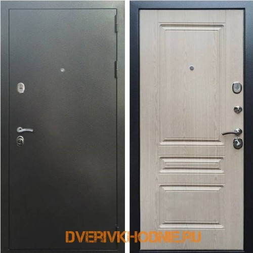 Металлическая входная дверь Рекс 5 ФЛ-243 Беленый дуб
