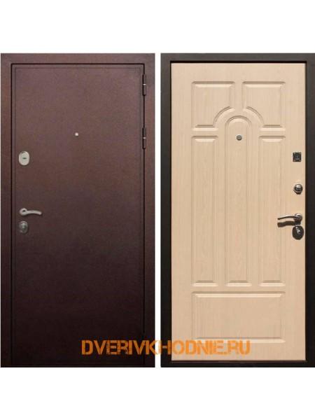 Металлическая входная дверь Рекс 5А Беленый дуб