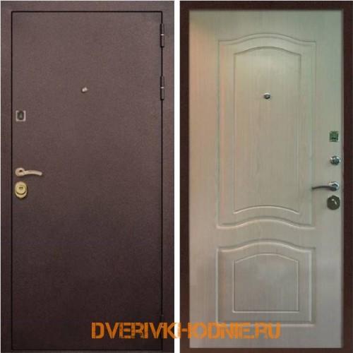Металлическая входная дверь Рекс Лайт 3К Беленый дуб