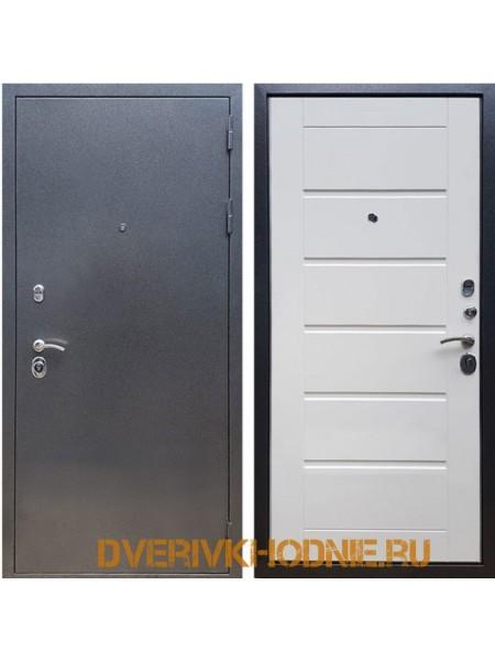 Металлическая входная дверь Рекс 11 Белый ясень