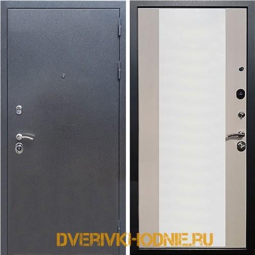 Металлическая входная дверь Рекс 5 СБ-16 Лиственница беж