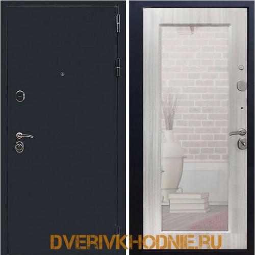 Металлическая входная дверь Рекс 5А Зеркало Пастораль Ясень белый