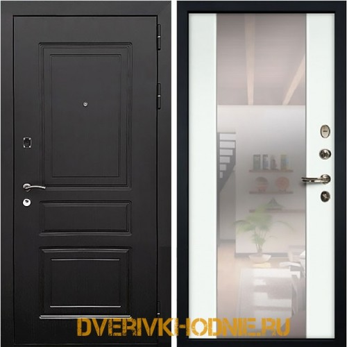 Металлическая входная дверь Рекс 6 СБ-16 Ясень белый