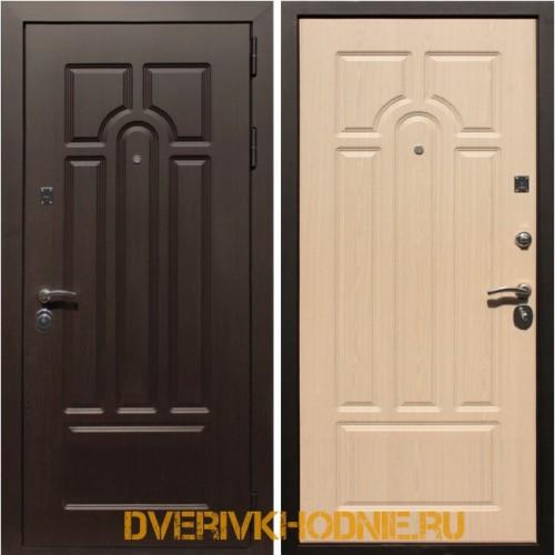 Металлическая входная дверь Рекс Эврика Беленый Дуб