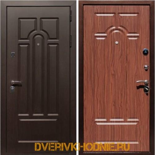 Металлическая входная дверь Рекс Эврика Орех