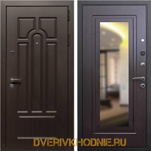 Металлическая входная дверь Рекс Эврика Зеркало Венге