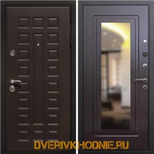 Металлическая входная дверь Рекс Премиум 3 Зеркало Венге