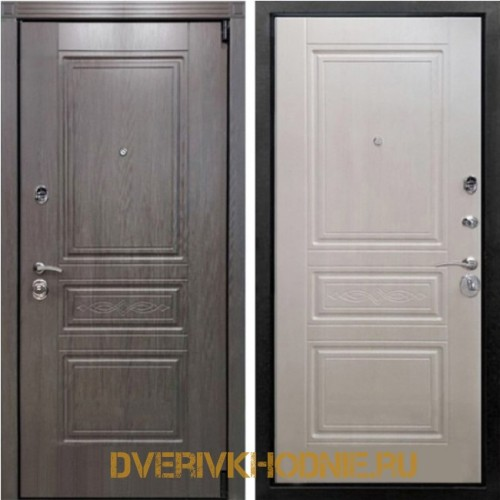 Металлическая входная дверь Рекс Премиум S Лиственница беж
