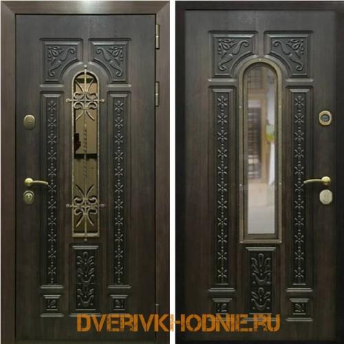 Металлическая входная дверь Рекс 8 Ковка (Алмон 28)