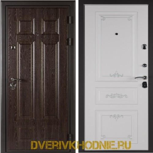 Металлическая входная дверь Shelter ЛЕОН (Ренессанс-2) Дуб филадельфия шоколад