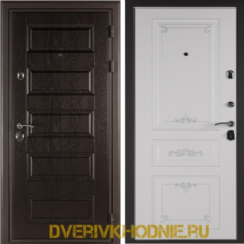 Металлическая входная дверь Shelter ЛЕОН (Ренессанс-2) Горький шоколад