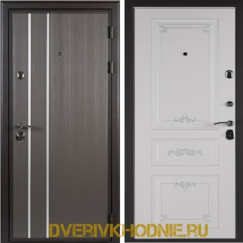Металлическая входная дверь Shelter ЛЕОН (Ренессанс-2) Реалвуд графит