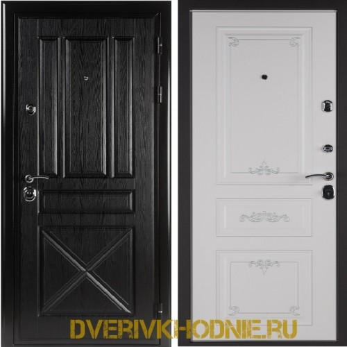 Металлическая входная дверь Shelter ЛЕОН (Ренессанс-2) Плантан черный
