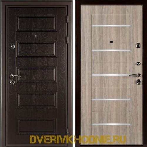 Металлическая входная дверь Shelter ЛОНДОН (L-5) Горький шоколад