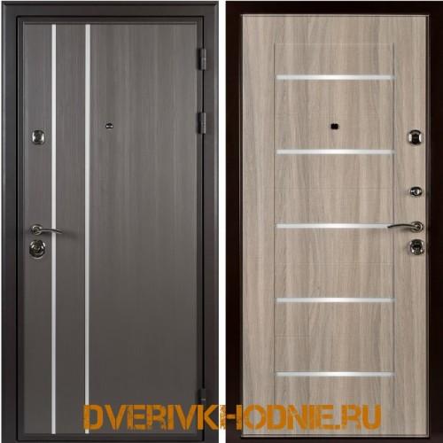 Металлическая входная дверь Shelter ЛОНДОН (L-5) Реалвуд графит