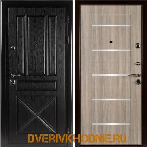 Металлическая входная дверь Shelter ЛОНДОН (L-5) Плантан черный