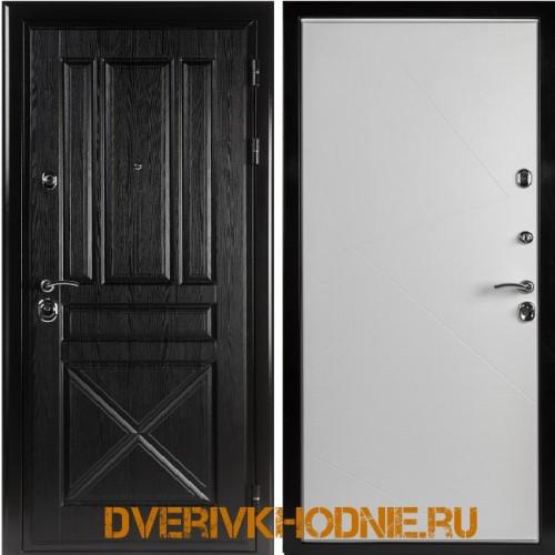 Металлическая входная дверь Shelter ВЕРОНА (Z-9) Плантан черный