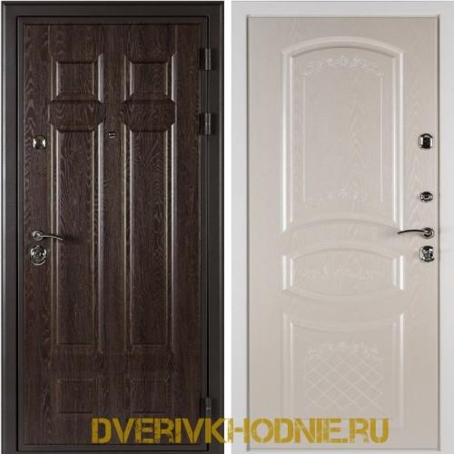 Металлическая входная дверь Shelter ДРЕЗДЕН  (Византия) Дуб филадельфия шоколад