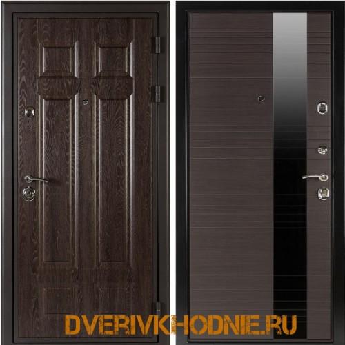 Металлическая входная дверь  Shelter ЛИВЕРПУЛЬ 1 (Роял-L) Дуб филадельфия шоколад