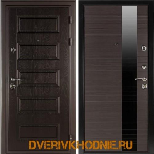 Металлическая входная дверь  Shelter ЛИВЕРПУЛЬ 1 (Роял-L)  Горький шоколад