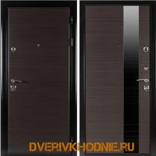 Металлическая входная дверь  Shelter ЛИВЕРПУЛЬ 1 (Роял-L)  Венге горизонт