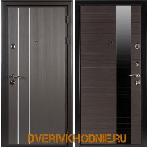 Металлическая входная дверь  Shelter ЛИВЕРПУЛЬ 1 (Роял-L) Реалвуд графит