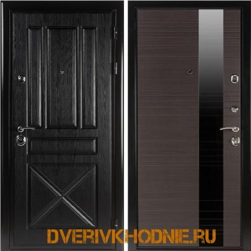 Металлическая входная дверь  Shelter ЛИВЕРПУЛЬ 1 (Роял-L) Плантан черный