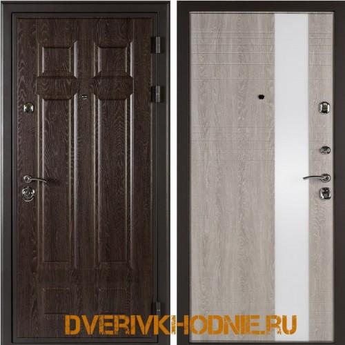 Металлическая входная дверь Shelter ЛИВЕРПУЛЬ 2 (Роял-L)  Дуб филадельфия шоколад