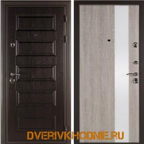 Металлическая входная дверь Shelter ЛИВЕРПУЛЬ 2 (Роял-L) Горький шоколад