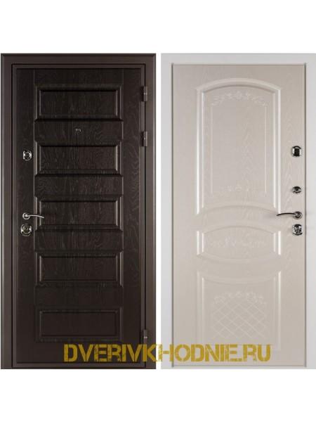 Металлическая входная дверь Shelter ДРЕЗДЕН  (Византия) Горький шоколад