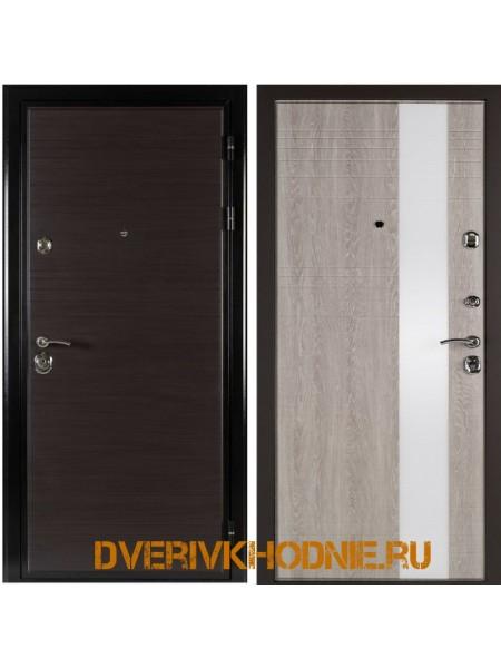 Металлическая входная дверь Shelter ЛИВЕРПУЛЬ 2 (Роял-L) Венге горизонт