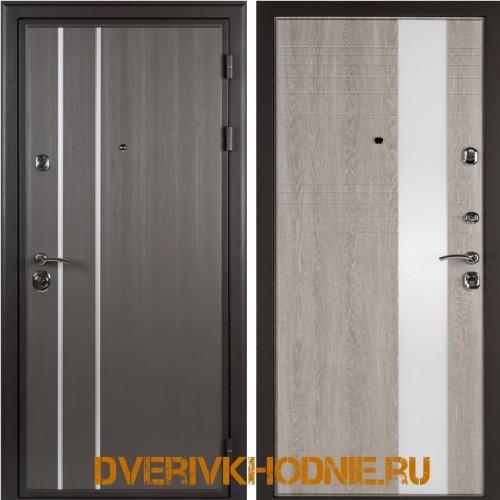 Металлическая входная дверь Shelter ЛИВЕРПУЛЬ 2 (Роял-L) Реалвуд графит