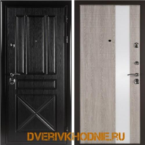 Металлическая входная дверь Shelter ЛИВЕРПУЛЬ 2 (Роял-L) Плантан черный