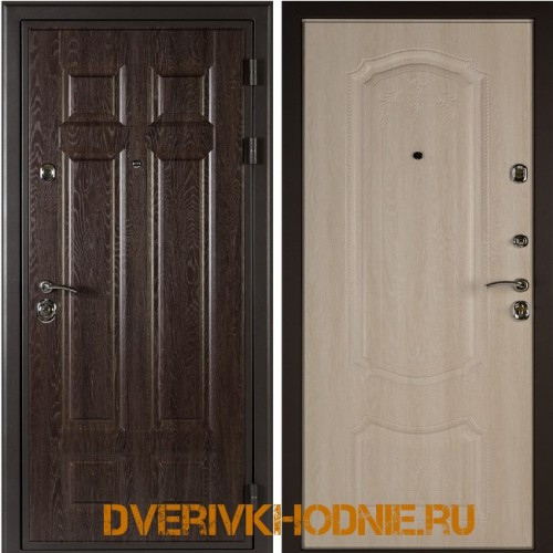Металлическая входная дверь Shelter ГАМБУРГ (Донато-5)  Дуб филадельфия шоколад