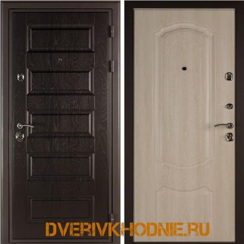 Металлическая входная дверь Shelter ГАМБУРГ (Донато-5) Горький шоколад