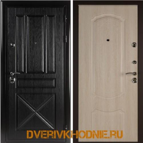 Металлическая входная дверь Shelter ГАМБУРГ (Донато-5)  Плантан черный