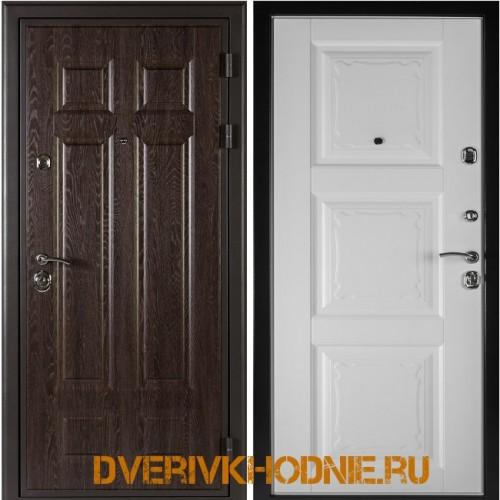 Металлическая входная дверь Shelter ОРЛЕАН (Паола-3)  Дуб филадельфия шоколад