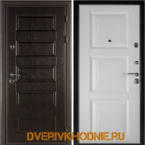 Металлическая входная дверь Shelter ОРЛЕАН (Паола-3) Горький шоколад