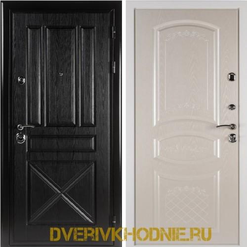 Металлическая входная дверь Shelter ДРЕЗДЕН  (Византия)  Плантан черный
