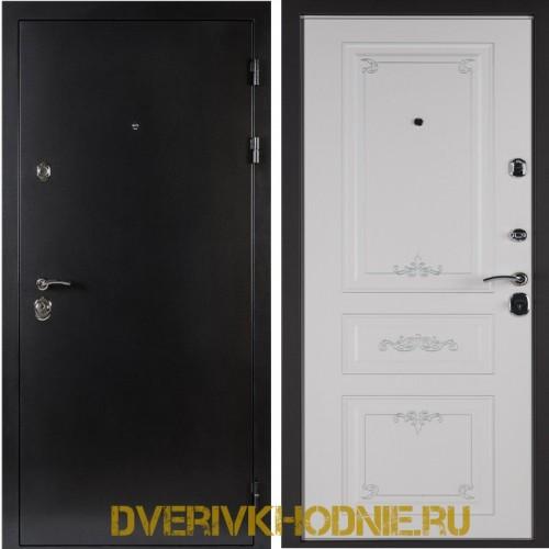 Металлическая входная дверь Shelter ЛЕОН (Ренессанс-2) Антик темное серебро