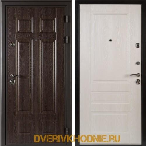 Металлическая входная дверь Shelter МЮНХЕН (Фантазия)  Дуб филадельфия шоколад