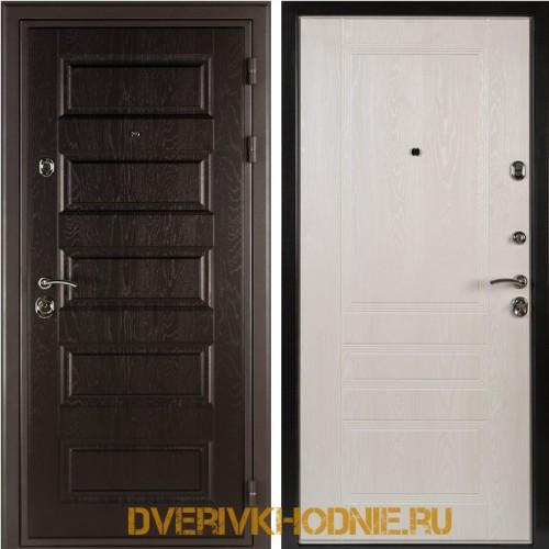 Металлическая входная дверь Shelter МЮНХЕН (Фантазия)  Горький шоколад