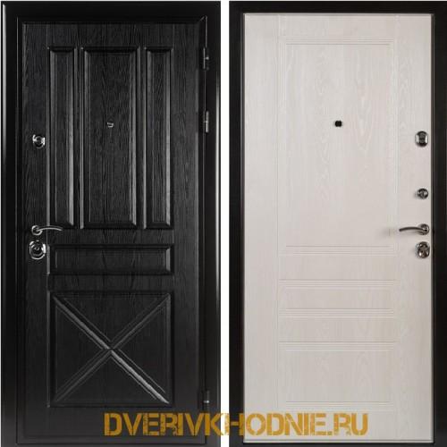 Металлическая входная дверь Shelter МЮНХЕН (Фантазия) Плантан черный