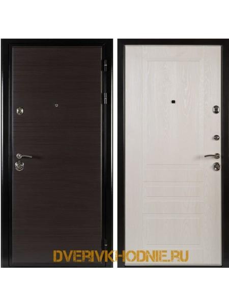 Металлическая входная дверь Shelter МЮНХЕН (Фантазия)  Венге горизонт